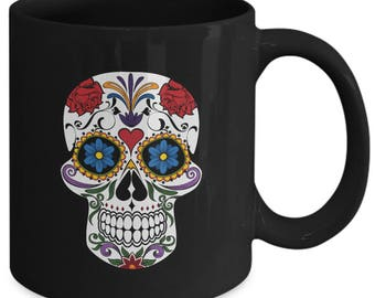 Dia De Los Muertos Sugar Skull - Ceramic Mug for Coffee or Tea - 11oz and 15oz