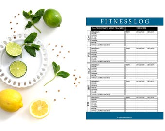 Fitness Log (Letter & A5)
