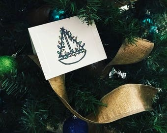Sailing into the Holidays - Greeting Cards (pack of 5)