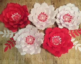 5 pcs Paper flowers