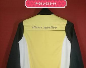 Vintage Ellesse Jacket Track Top Pullover Shirt Spellout Multi Colour Size 95 Polo Ralph Lauren Adidas Nike Color Block Sportwear