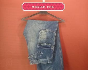 Vintage Johnbull Jeans Pant Johnbull Kajima Japan Blue Colour Size LL Made Japan Comme Des Garcons Pant Yohji Yamamoto Pant Junya Watanabe