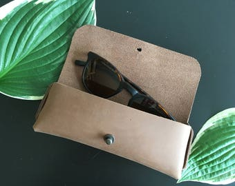 Brown Leather Sunglasses Soft Case