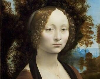 Portrait of Ginevra of ' Benci by Leonardo Da Vinci circa 1474 1476.