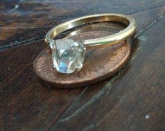 Beautiful Rose Cut diamond ring