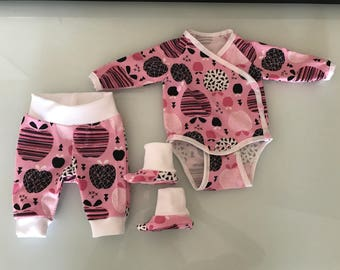 NEW set Gr. 44-98 - bloomers body booties rompers pajamas