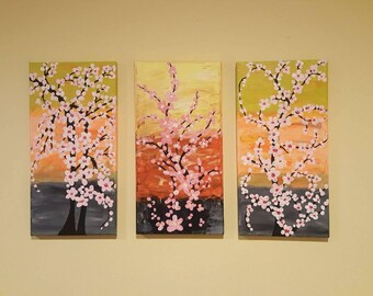 Spring Blossoms Section painting