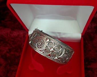 Silver bracelet B511 filigree-32g