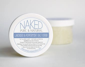 Natural Body Scrub, Lavender Peppermint Essential Oils, All Natural Skincare, Exfoliate Skin, Bath And Beauty, All Natural, Gift for Her