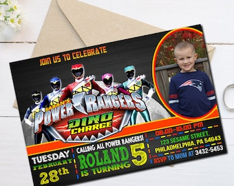 Power Ranger Invitation, Power Ranger Birthday Invitation, Power Ranger Party, Power Rangers, Power Ranger Birthday, Power Ranger kid