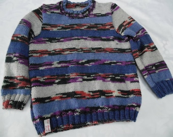 Multicolor striped sweater 6 years round neck