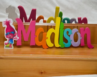 Name puzzle trolls princess poppy and name plaque