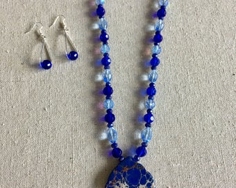 Beautiful Magnasite and matching earrings set