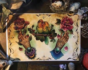 Love tattoo flash by artist Josh Wiley