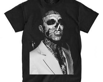 Rick Genest - Zombie Boy - Black Shirt - Ships Fast! High Quality!