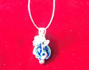 Silver Wire Wrapped Handcrafted Pendant