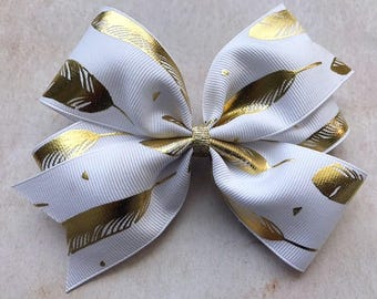 Gold Feathers Bow