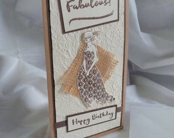 Fabulous Lady Birthday Card