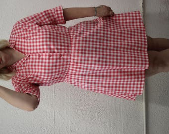 80s plus sized gingham dress