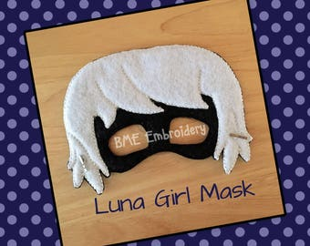 Luna Girl Inspired Felt Mask- PJ Masks- Dress Up and Imaginary Play- Birthday Party Favor-Photo Shoot-PJ Masks Party-Theme Party