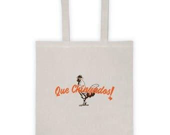 Que Chinga Tote bag