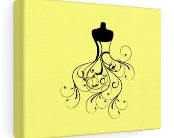 Cool Dress Designed - Canvas Wall Art - Yellow - Black dress design