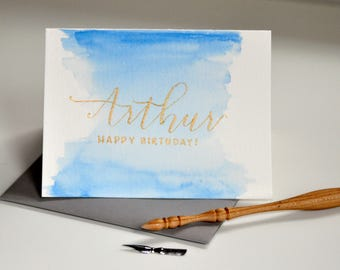 Handwritten Birthday Card | Calligraphy | Not Printed | Birthday Card
