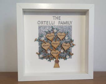 family tree frame, frames family tree, family tree, parents gift, mothers day gift, grandparents gift, personalised gift, customised frame