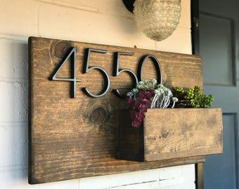 Address Planter | House Numbers | Planter | Succulent Garden