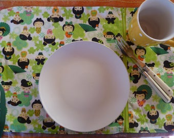 lunch 'Geisha' theme placemat