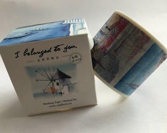 Travel Around the World Series Washi Tape, Masking Tape - GREECE