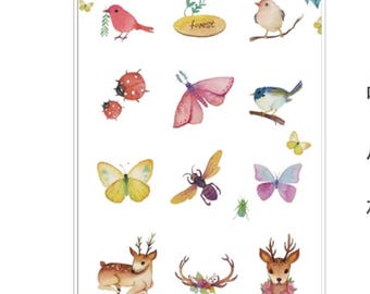 Cardlover Animal Stickers, Cute Animal Stickers, Scrapbooking, Journal, Planner, Diary Stickers for Decoration