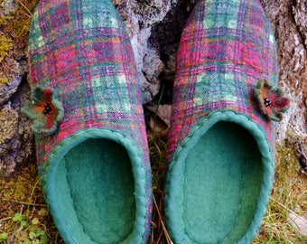 "Slippers felted ""Ireland"""
