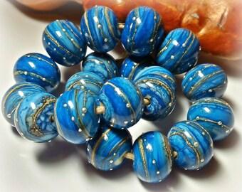 Starry Night Enameled Lampwork Beads**Handmade Lampwork Beads**