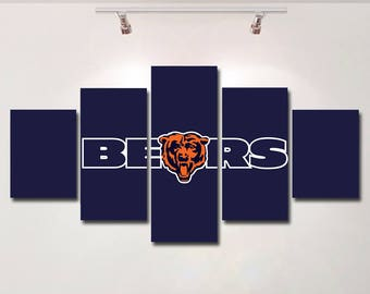 Chicago Bears Wall Art chicago bears wall | etsy