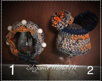Crochet baby bonnet and pom pom hat, Twins hat, Crochet twins hat, Crochet bonnet, crochet pom pom hat