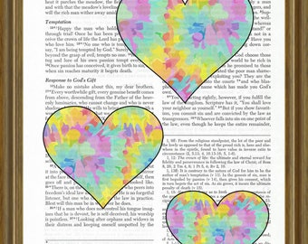 Hearts on a Bible Page