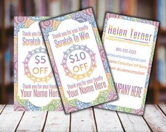 Scratch Off Card, Scratch to Win, Personalized, Digital card, Scratch Off Card for Independent Fashion Retailer, Mandala Card