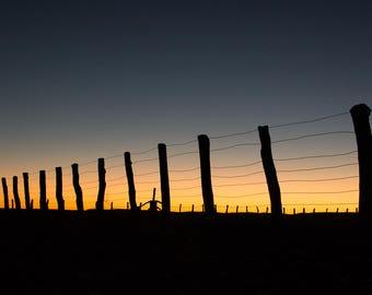 Landscape Canvas Sunset South side William Creek, South Australia