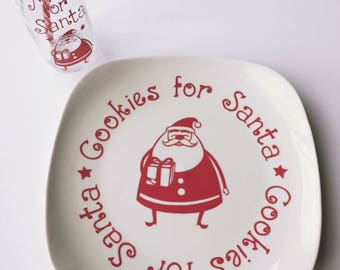 Cookies and Milk Set For Santa, Cookies for Santa, Milk for Santa, Christmas Cookies