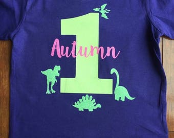 Dinosaur Birthday Tee Shirt