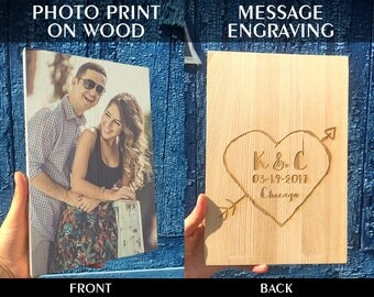 Girlfriend photo gift, photo gifts, photo on wood, boyfriend gift, gift for men, gift for women, birthday present, wedding gift, CHRISTMAS