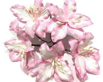 Light Pink Mulberry Paper Lillies Lil011