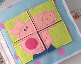 Handmade quiet book for children