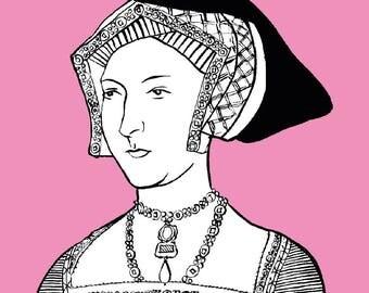 Jane Seymour - Six Wives A6 Greetings Card