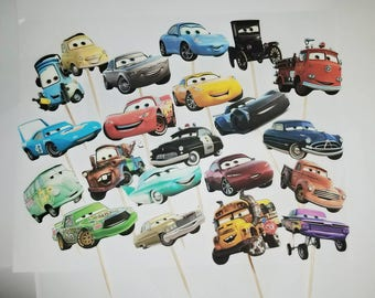 24 Disney Pixar Car cupcake topper, Cars  Movie,  Party Decorations. Events Kids Party Ideas, Boy Birthday Party Ideas