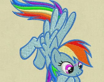 Rainbow Dash Embroidery Design, My Little Pony Embroidery Design, Baby Embroidery Design, Girl embroidery design, My Little Ponies