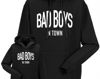 Partnerlook Hoody father child Bad boys