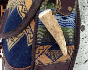 """3"""" Elk Antler Key Chain/Bag Clip"""