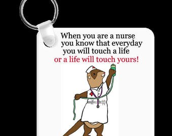 Nurse Ferret Male or Female Keychain